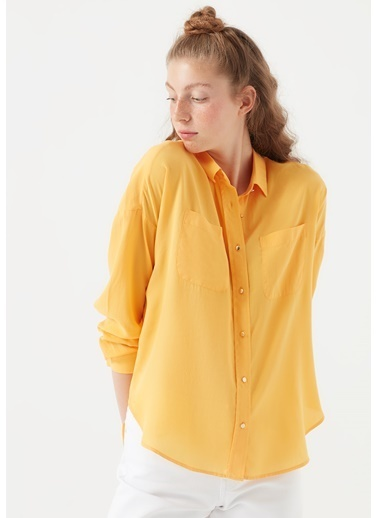 Mavi Lux Touch  Lyocell Gömlek Sarı